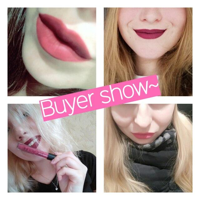 FOCALLURE Matte Liquid Lipstick Waterproof Moisturizer Smooth Lip Stick Long-lasting Lip Tint Cosmetic Lip Makeup 1