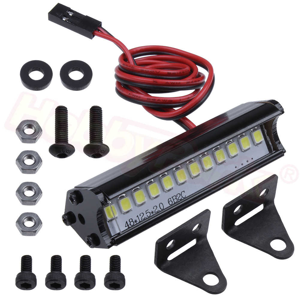 RC Rock Crawler Truck LED Light Bar Spotlight Dome Light Simulation For Traxxas Trx-4 Trx4 Axial SCX10 90046 D90 Tamiya CC01 KM2