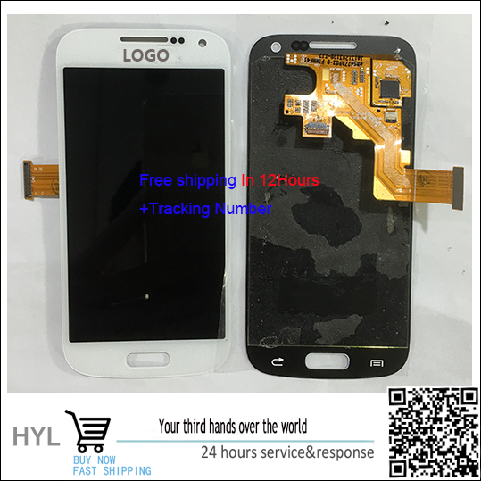 Original Touch Screen touchscreen Digitizer+LCD display with frame For Samsung S4 mini i9190 free shipping