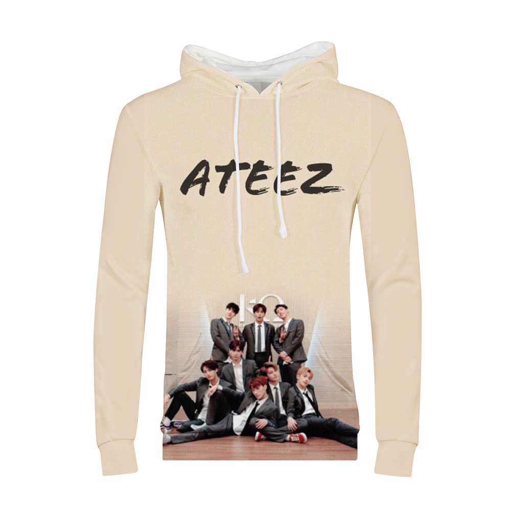 2019 Kpop Group ATEEZ sweat à capuche pour femme Sweatshirts Hongjoong Seonghwa Yunho Yeosang San Mingi Wooyoung Jongho ATEEZ un adolescent Z
