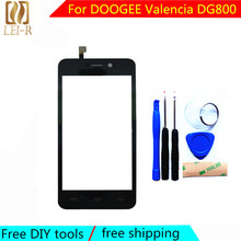 free Tools+3M Sticker Original New For DOOGEE Valencia DG800 Touch Screen Glass Capacitive sensor panel Black Free Shipping