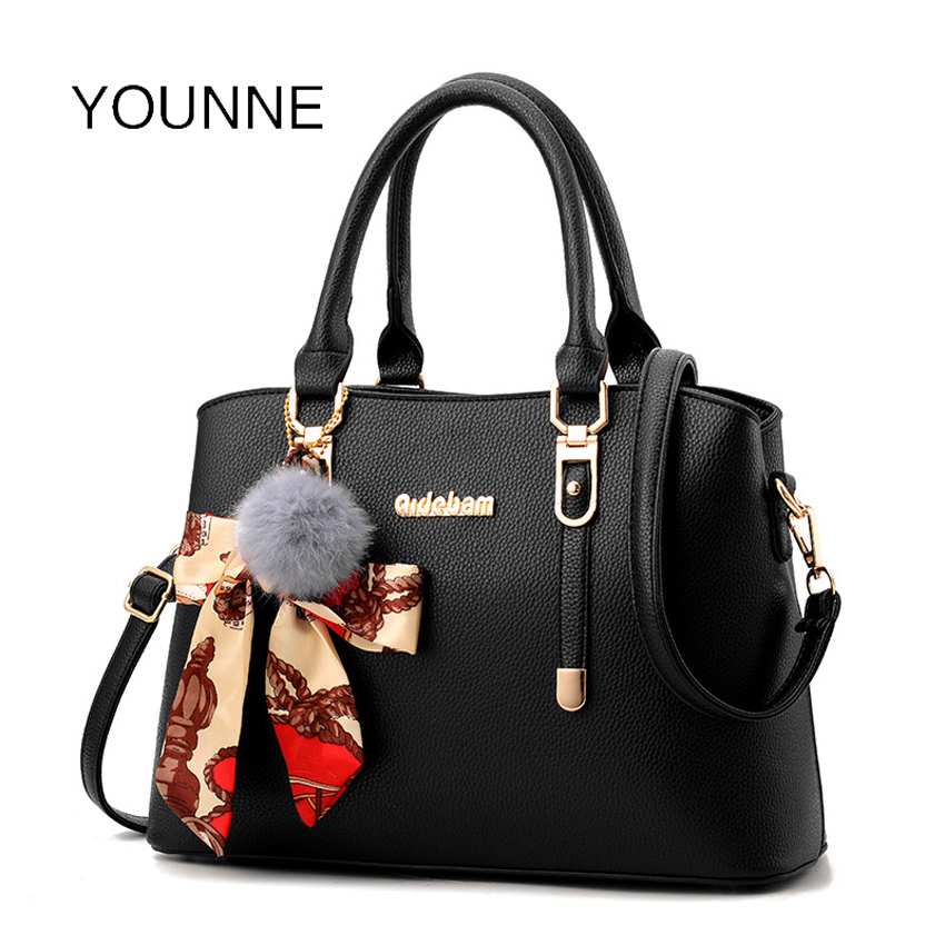 YOUNNE Brand Bag For Women Fashion Leather Shoulder Bags Female Casual Solid Color High Capacity Tote Lady Fashion Zipper Bags aosbos fashion portable insulated canvas lunch bag thermal food picnic lunch bags for women kids men cooler lunch box bag tote
