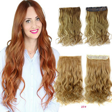 24″ 60cm long Curly Hair Extensions Clip in Hair Extension  Synthetic Hairpiece Artificial Mega Hair Apply
