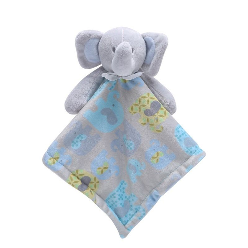 100% Quality Baby Pacifier Appease Soothe Towel Cute Cartoon Elephant Soft Plush Nursing Stuffed Doll Infant Teether Sleeping Partner Towels