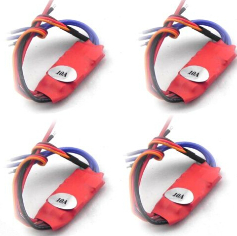 4pcs 2-3S 10AMP 10A SimonK firmware Brushless ESC w/BEC Quad Multi APM NAZA B with brushless motor