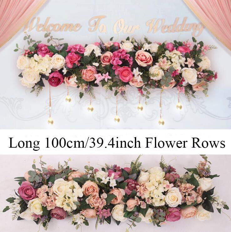 Us 4889 10 Offdekoracje ślubne Arch Kwiat Wiersz 1 Metr 394