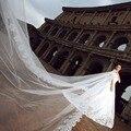 5 m véu de noiva 5 metros de véus de noiva de alta qualidade véu catedral marfim / branco Lace Wedding 5