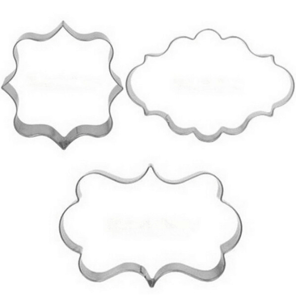 metal cookie cutter 10set3pc message chat frames stainless steel biscuit mould diy cake mold decorating cupcake tools