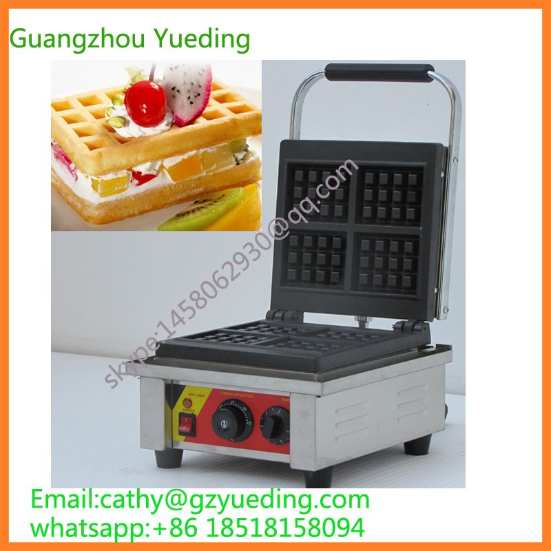 China 4 pcs Rectangle Waffle Baker Stainless Steel Liege Waffle Iron For Sale stainless steel axle sleeve china shen zhen city cnc machine manufacture