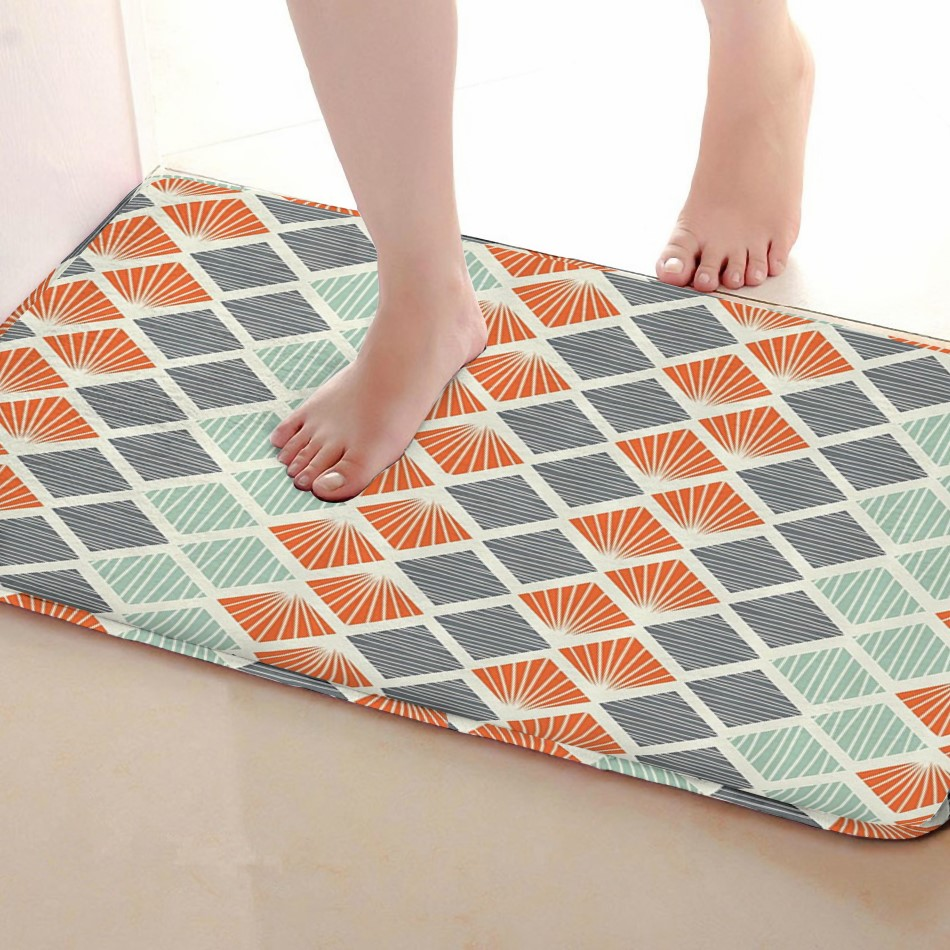 Diamond Style Bathroom Mat,Funny Anti skid Bath Mat,Shower Curtains Accessories,Matching Your Shower Curtain