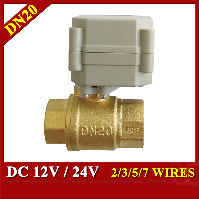 3/4'' DC12V electric valve 2/3/5/7 wires DN20 electric ball valve brass with NPT/BSP thread mini brass ball valve panel mountable 450psi with lever handle chrome plated malexfemale npt