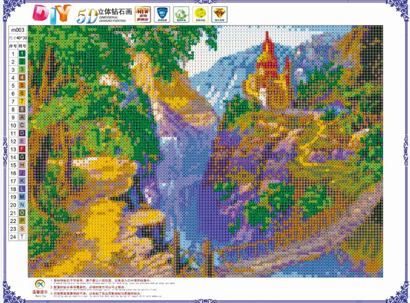 Complete Diamond Painting 5D DIY Diamond Embroidered Landscape Series Patterns Cross Stitch Round Diamond Mosaic in Diamond Painting Cross Stitch from Home Garden
