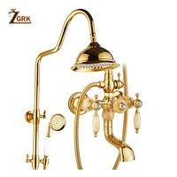 ZGRK смесители для душа Ванная комната смесители топ спрей дождь Насадки для душа стиральная кран Античная душ Системы Водостоки кран HS006