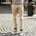 SIMWOOD 2016 Chegada Nova Marca de Moda Roupas Masculinas Casuais Slim Fit Algodão Longo Calças Dos Homens Sweatpants Frete Grátis KX5501