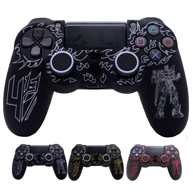 все цены на Transformers Silicone Skin Anti-slip Protective Case Cover with Thumb Grip Caps for Dualshock 4 PS4/PS4 SLIM/PS4 PRO Controller онлайн