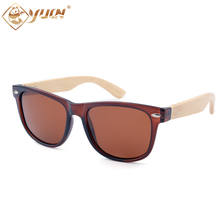 Hot Sale Bamboo Polarized Sunglasses Women Classic Colorful Handmade Bamboo Arms Male Sun Glasses Shades Gafas De Sol 1203