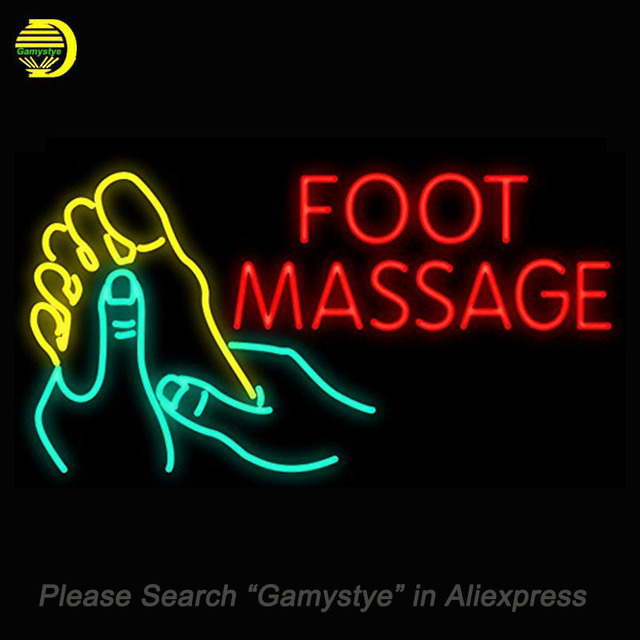 Foot Massage Neon Sign Glass Tube neon word light Neon Bulb Sign Advertise Lamp Display ARTWORK Handcraft decorate Room Home