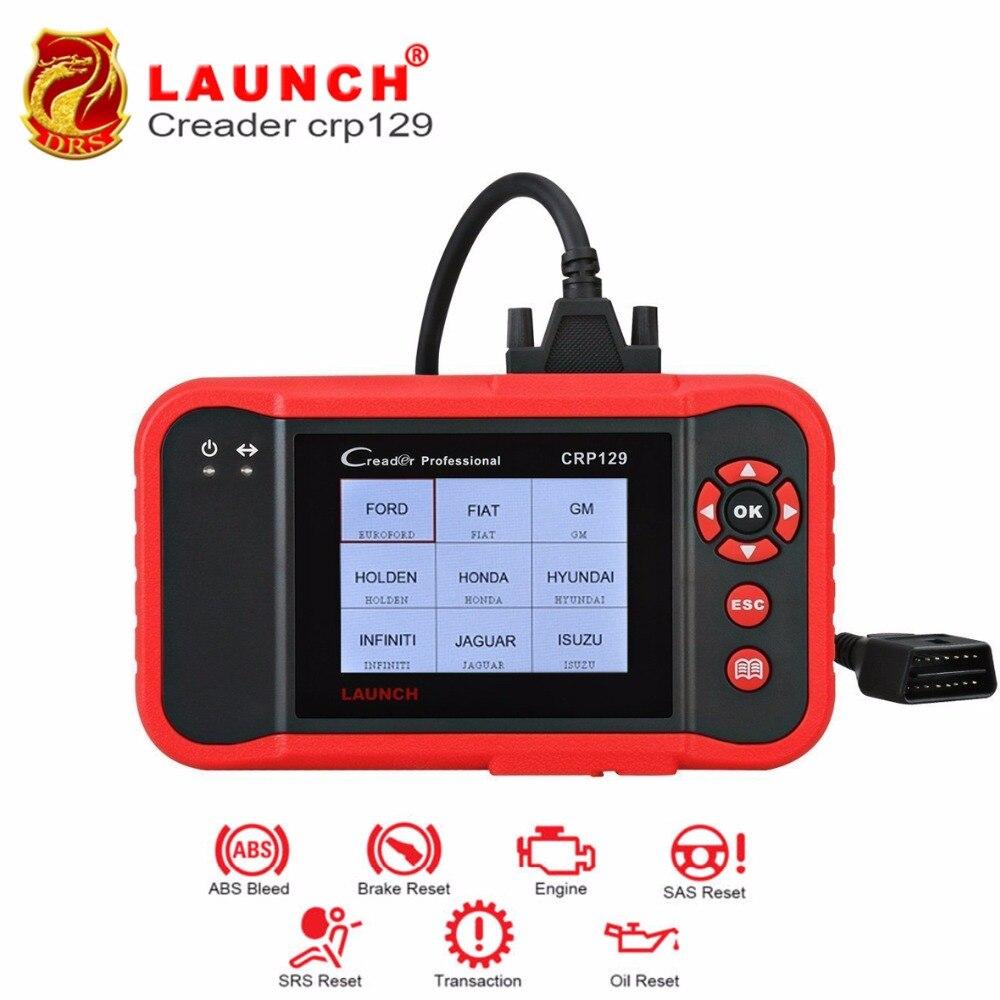 Launch Профессиональный Crp129 Launch Creader Авто читальный инструмент кодов обновление онлайн 4 системы EPB SAS Oil сброс диагностический инструмент авто...