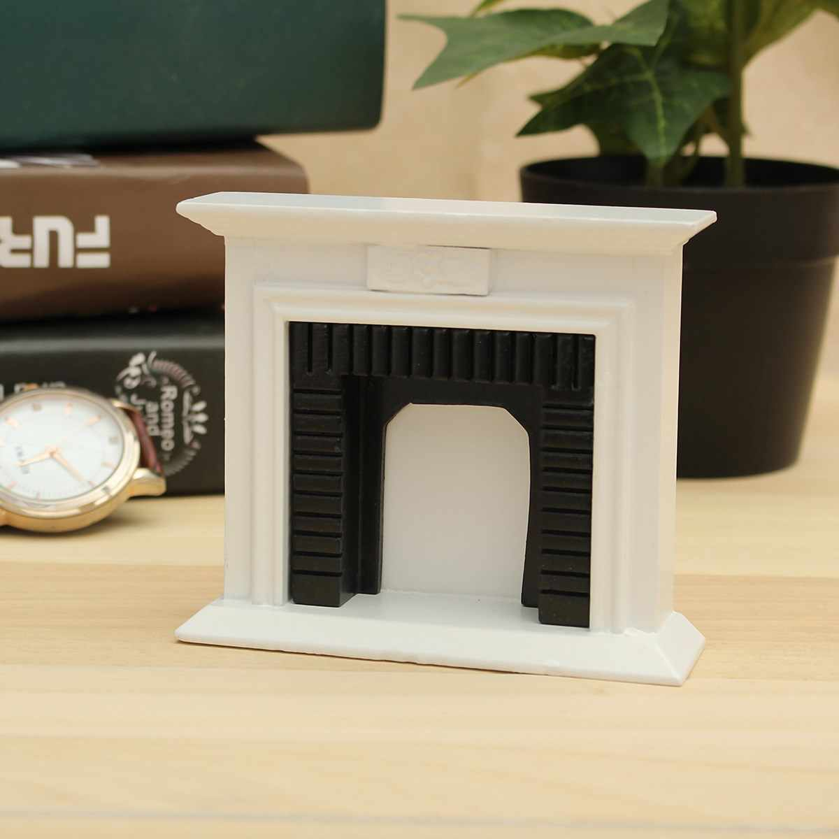 1/12 Scale DIY Handmade Miniature White Fireplace Dollhouse Decor Furniture Accessorie Kits Mini Toys Gift For Children