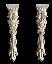 2 Pezzi/lottp 30x6.5cm Stile Europeo Mobili Stigma Roma Colonna Intagliato Decorazione di Legno