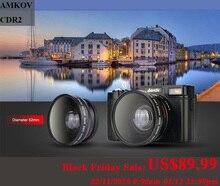 AMKOV CDR2กล้องดิจิตอลกล้องมืออาชีพHDกล้องวิดีโอกล้องDSLRมุมกว้างTelephotoเลนส์กล้องดิจิตอล