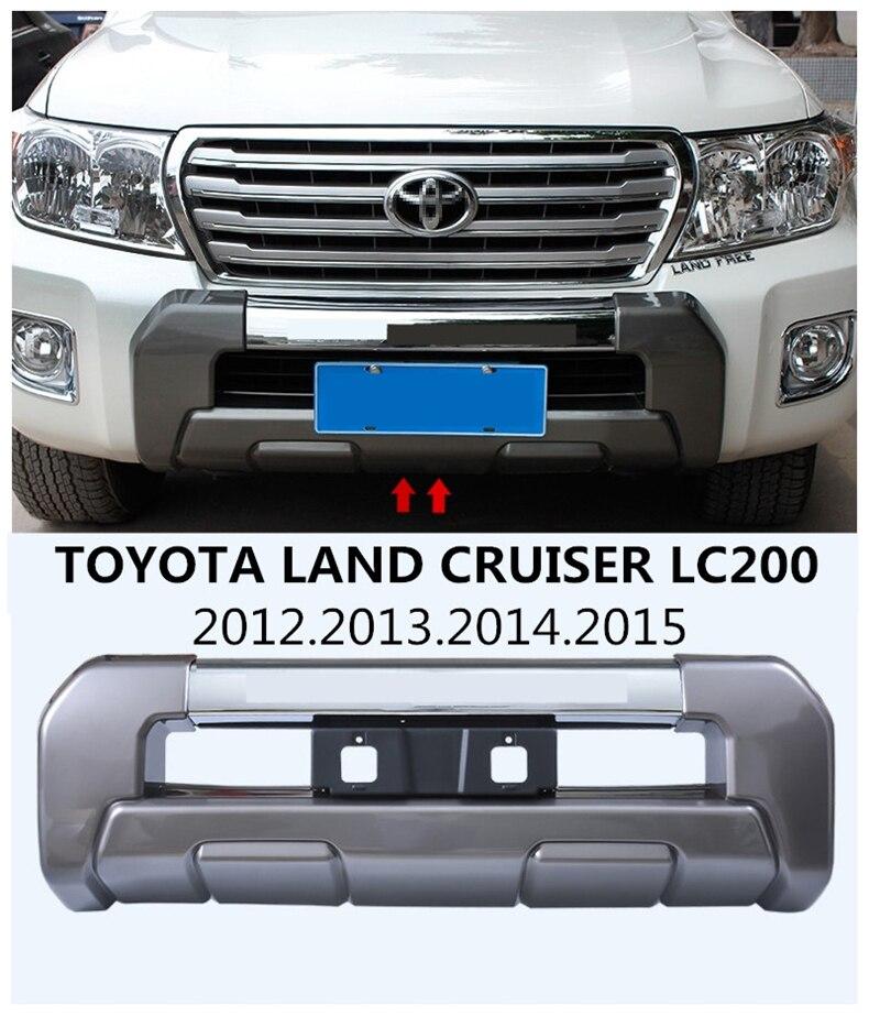 Auto PARAURTI Anteriore Per TOYOTA LAND CRUISER LC200 2012.2013.2014.2015 Auto di Alta Qualità PARAURTI Piastra Accessori
