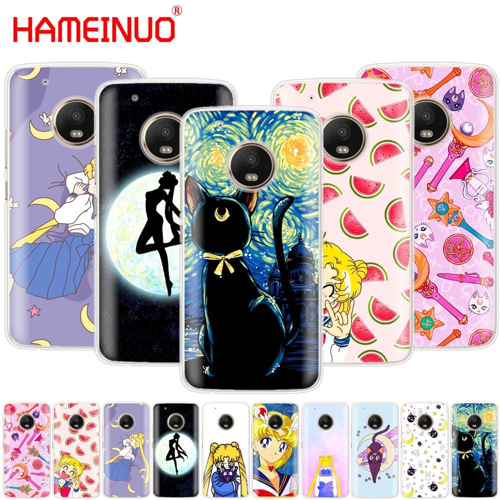 Sailor Moon Sailor Mercury Cute Case Phone Cover For Motorola Moto X4 E4 C G6 G5 G5S G4 Z2 Z3 PLAY PLUS