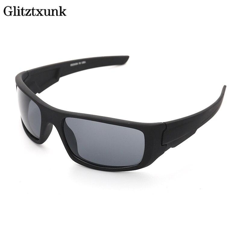 Glitztxunk esportes óculos de sol dos homens quadrados marca designer uv400 2019 ao ar livre óculos de sol