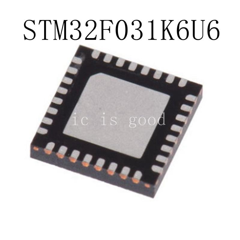 10PCS LOT STM32F031K6U6 F031K6 QFN 32 NEW