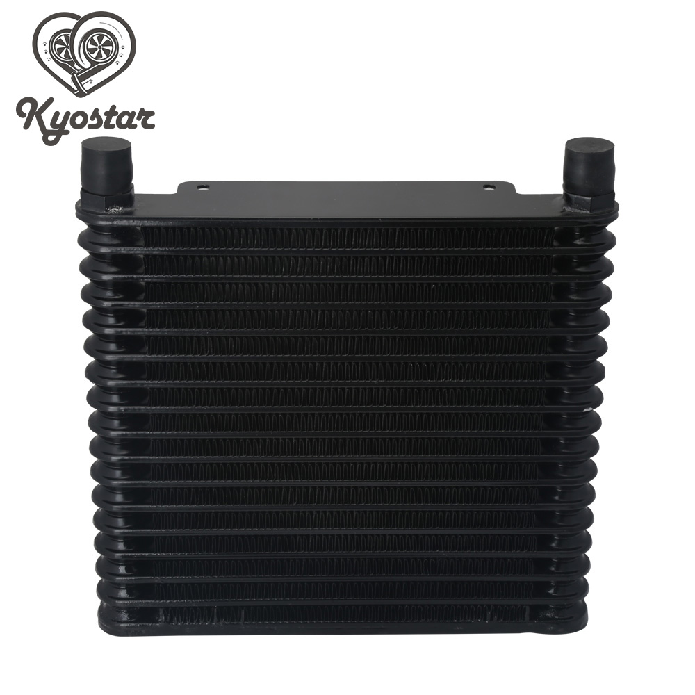 цена на New Design Universal 17 Row 10AN Oil Cooler Black Aluminum Transmission Oil Cooler Radiator For Car