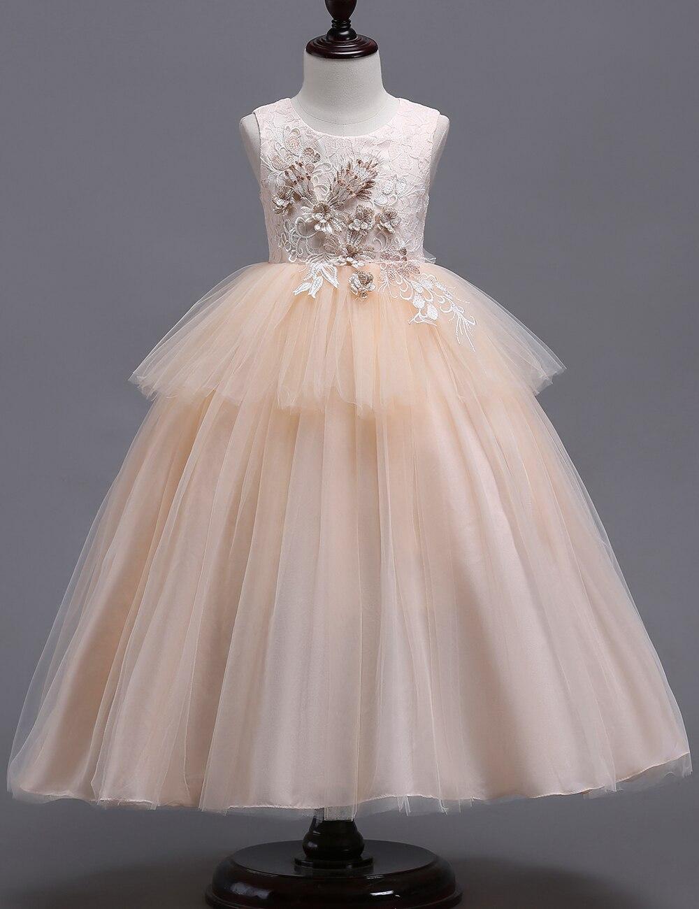 dfa1982315 Long Champagne Flower Girl Dresses - Data Dynamic AG