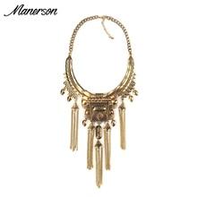 Fashion Tassel Necklace Pendant Women 2016 Chunky Collier Femme Collar Choker Jewelry Bib Boho Ethnic Maxi