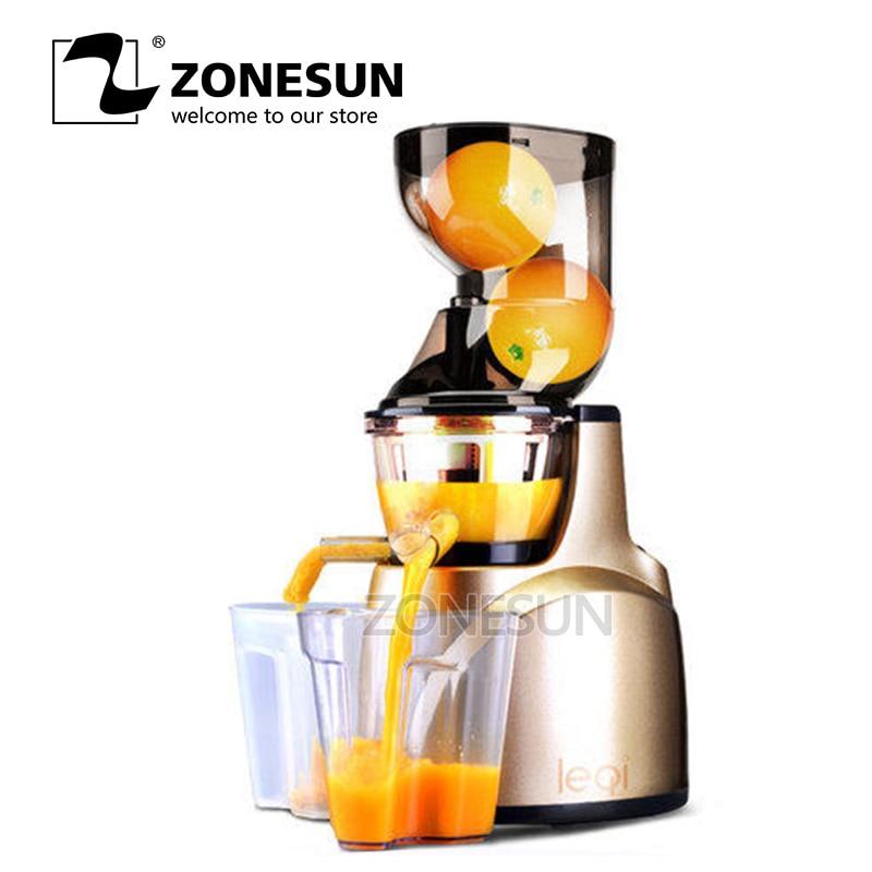 ZONESUN World Best Products Fruit Vegetable Citrus Low Speed Juice ExtractorZONESUN World Best Products Fruit Vegetable Citrus Low Speed Juice Extractor