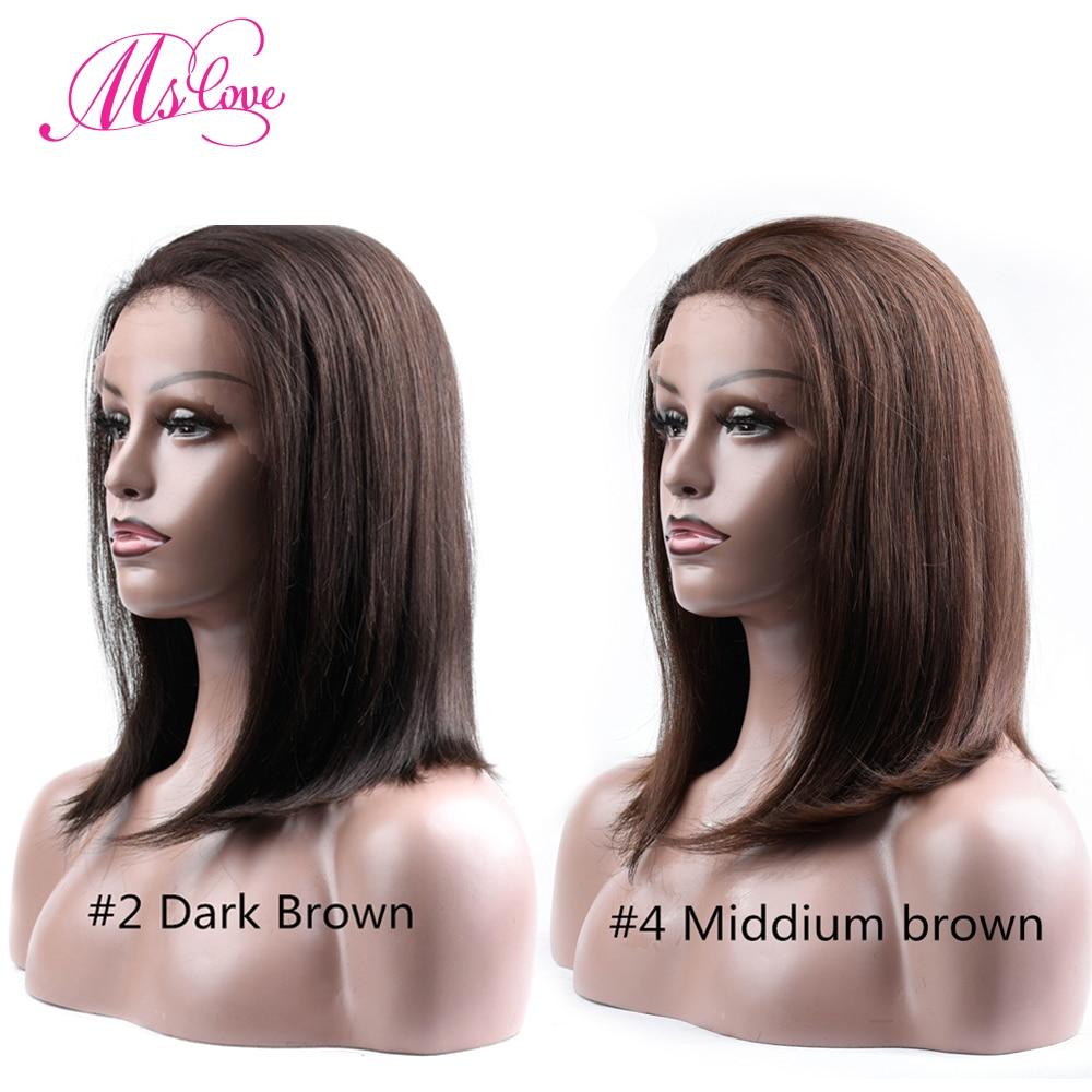 Ms Love Hair Parykker Menneskehår Kort Bob Parykker For Sorte - Skønhed forsyning - Foto 4