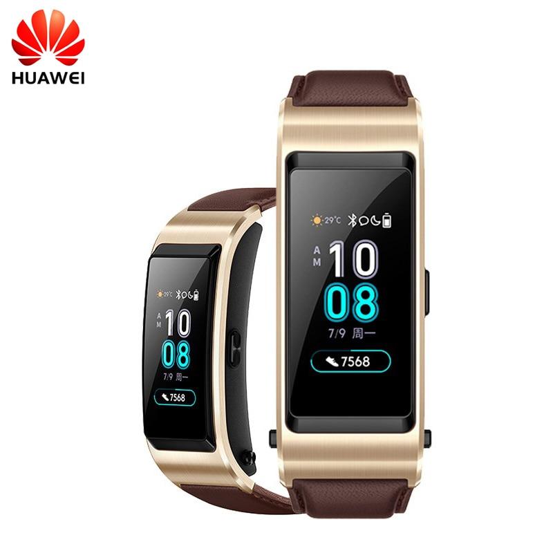 D'origine Huawei B5 Bande TalkBand B5 Bluetooth Bracelet Intelligent de Sport Portable Bracelets Tactile Écran AMOLED Appel Écouteur Bande