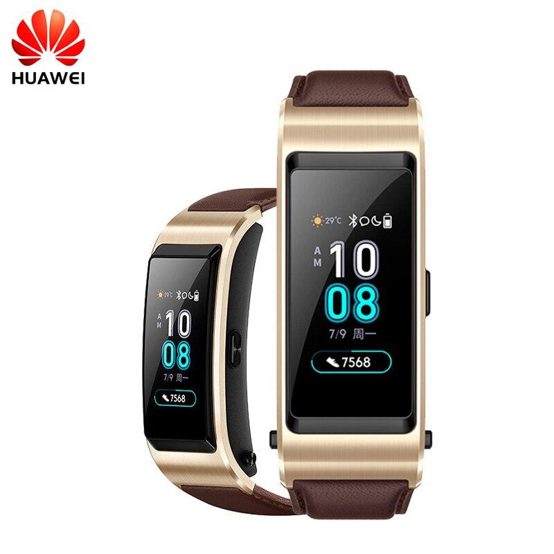 Originale Huawei B5 Fascia TalkBand B5 Bluetooth Braccialetto Intelligente Wearable Sport Braccialetti Touch AMOLED Schermo di Chiamata Auricolare Della Fascia