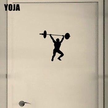 YOJA 22.4*22.4CM Gym Bodybuilder Big Large Wall Stickers Home Gym Bedroom Door Decor Decals D2-0075