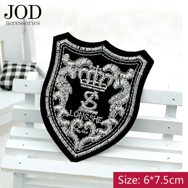 JOD Personalized Badge Embroidered Fashion Applique Dress Iron on  Embroidery Patches for Clothes Stickers Jacket Sweater f9738ae89