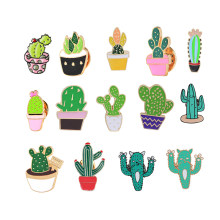 Fashion Cartoon Cactus Brooches Cute Mini Plant Pot Enamel for Women Denim Jackets Lapel Pins Hat Badges Kid Jewelry Accessories(China)