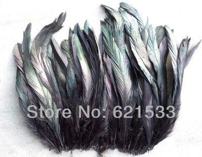 200 шт./лот 6-8 дюймов 15-20 см красивые черные перья петуха, оптом, много, оптом, перо, волос, бесплатная доставка