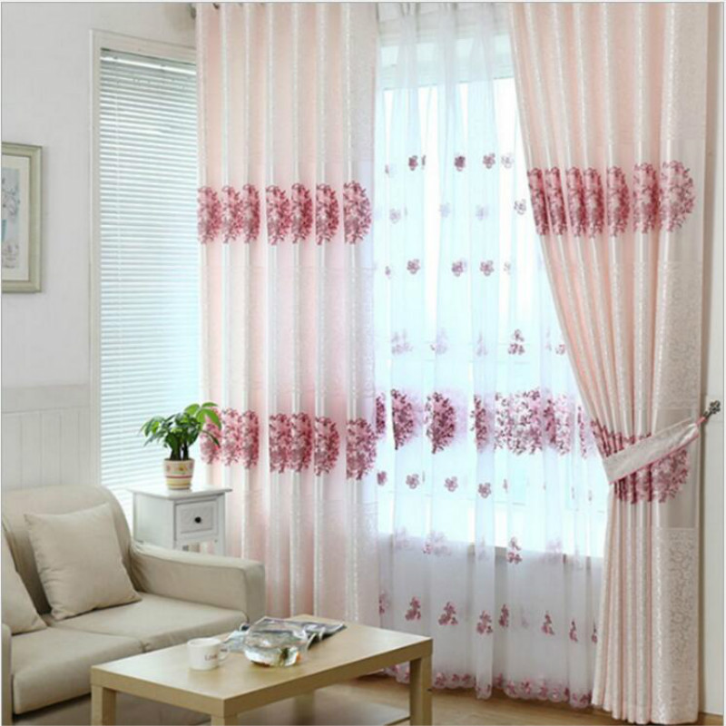 High Quality Polyester Fabric Curtains/tulle,pink Embroidered Wedding  Bedroom Window Screen,Chinese Classic Curtains For Home In Curtains From  Home U0026 Garden ...