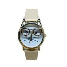Fashion Women's Watches Best Sellers High Quality Featured Clock Cute Glasses Cat Pattern Watch Zegarek Damski Montre Femme@ 50