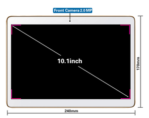 Image 5 - Android 8.0 Akıllı tablet adet android tablet pc 10.1 inç 10 çekirdek MTK6797 tablet bilgisayar Ram 4 GB Rom 32 GB 64 GB 1920X1200 8MP