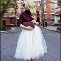 Mujeres Niñas 6 Capas de Tul Falda Adulto Neta Enagua Tutu Balón vestido Skater Faldas Para Mujer de Saia Faldas de Color Blanco Elegante Jupe