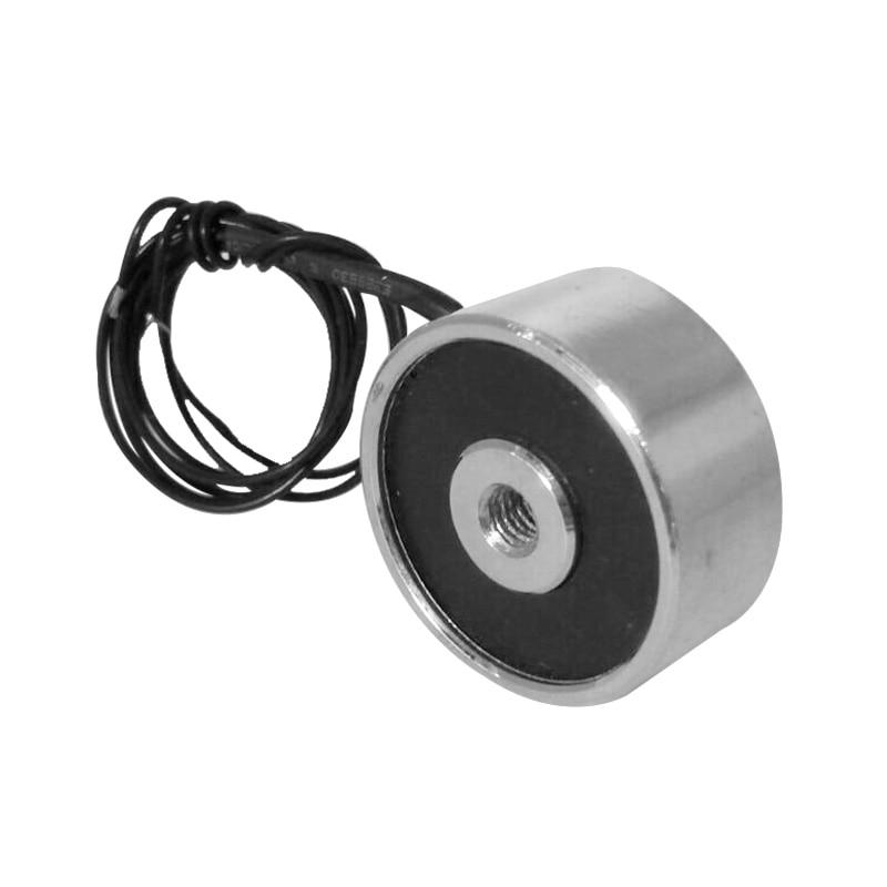12V or 24V DC 5kg holding force suction Electro magnet solenoid for industrial automation system electric magnet 20 x 15mm dc electro holding magnet blue silver black 22cm cable