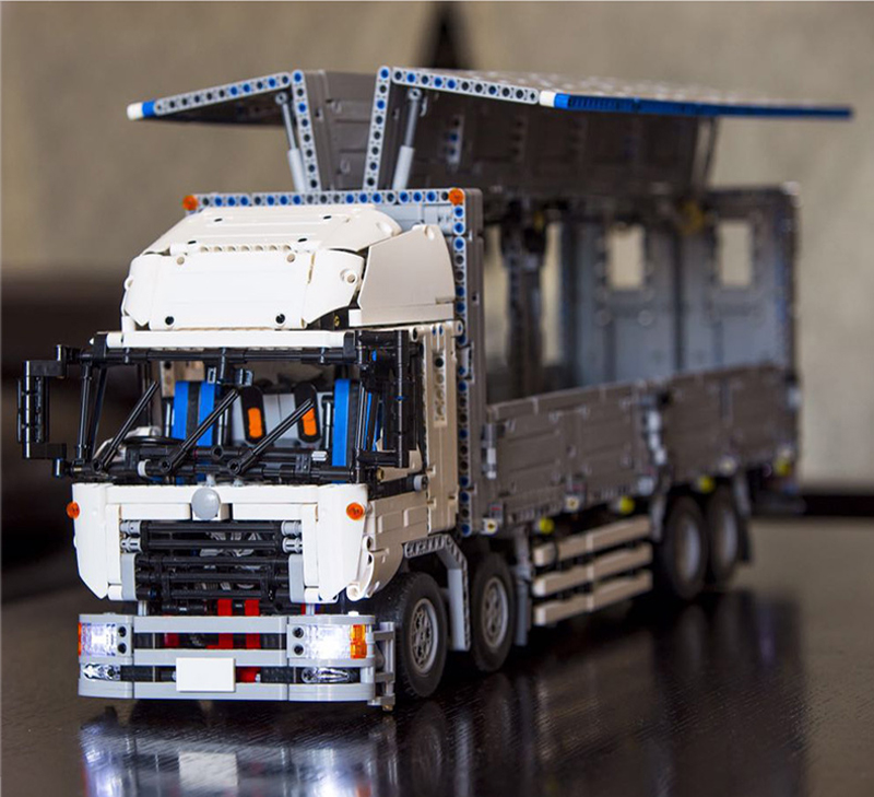 LEPIN 23008 4380pcs Technic MOC Series Wind Body Truck Motorized Model Building Blocks Bricks Compatible boy brithday gifts 1389 23008 4380pcs technical series the moc wing body truck set compatible with 1389 educational building blocks children toys