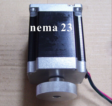 Dual Shaft NEMA23Stepper Motor with Handwheel 180 N.cm (250 oz-in) Body 76mm CNC Handwheel NEMA 23 Stepper Moto CE ROHS dual shaft nema 17 stepper motor 52n cm 72 oz in body length 48mm ce rohs cnc 3d printer motor