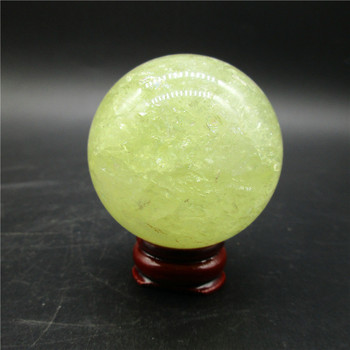 153g Natural Stones Clear Citrine Ball Mineral Specimen Yellow Crystal Rock Gemstone Decoration Health Collection Healing Energy