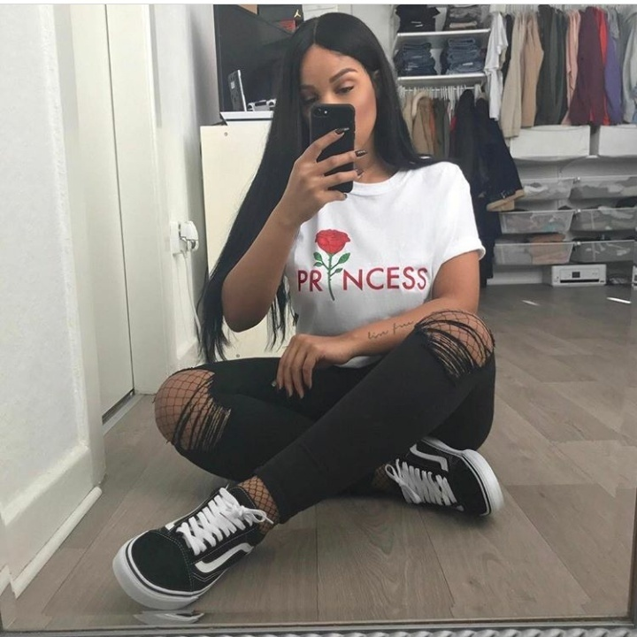 kuakuayu HJN Girls Princess Rose Flower Print White T Shirts For Girls Fashion Summer Tee with Letter Print
