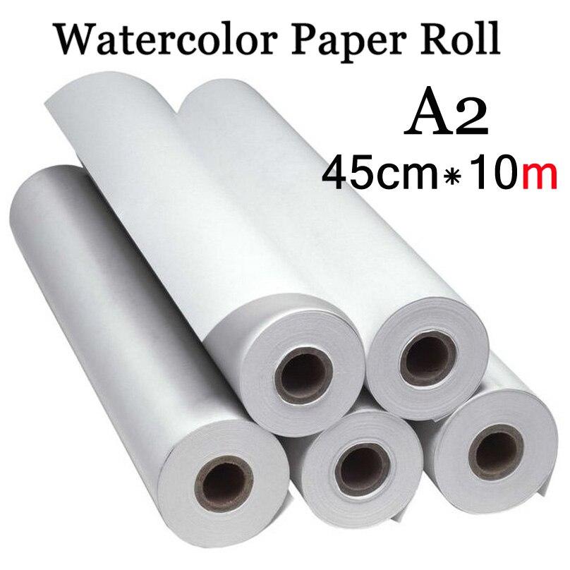 45 cm * 10 m Color de agua papel pintura A2 papel de acuarela de pintura de acrílico pintura arte arroz rollo de papel